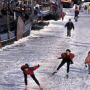 Ice skating Amsterdam canals