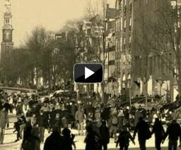 Amsterdam canals ice skating video