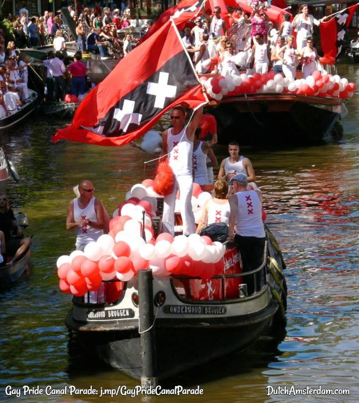 Amsterdam gay pride canal boat parade