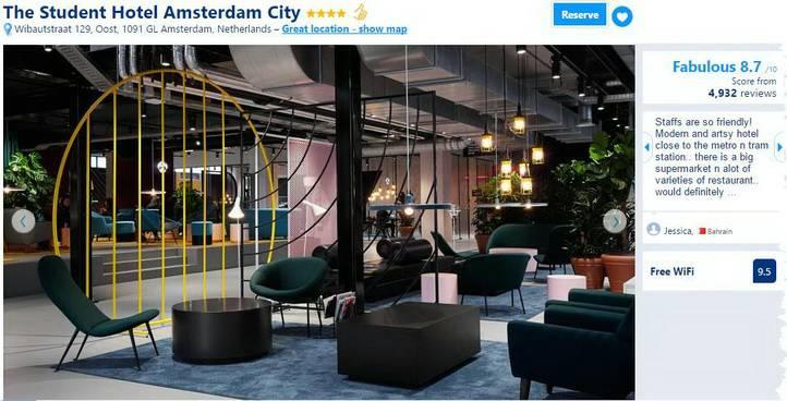 Amsterdam student hotel