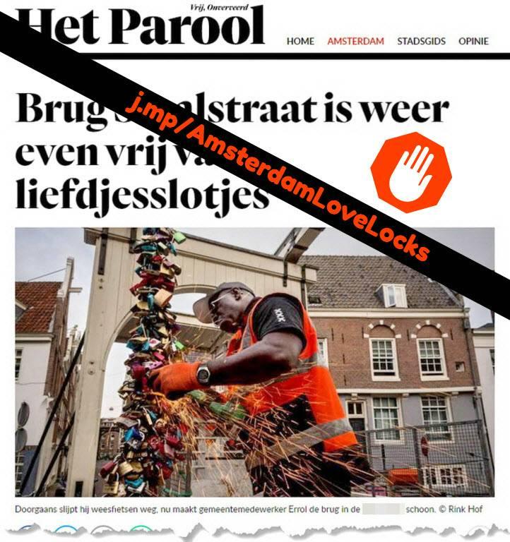 love locks amsterdam