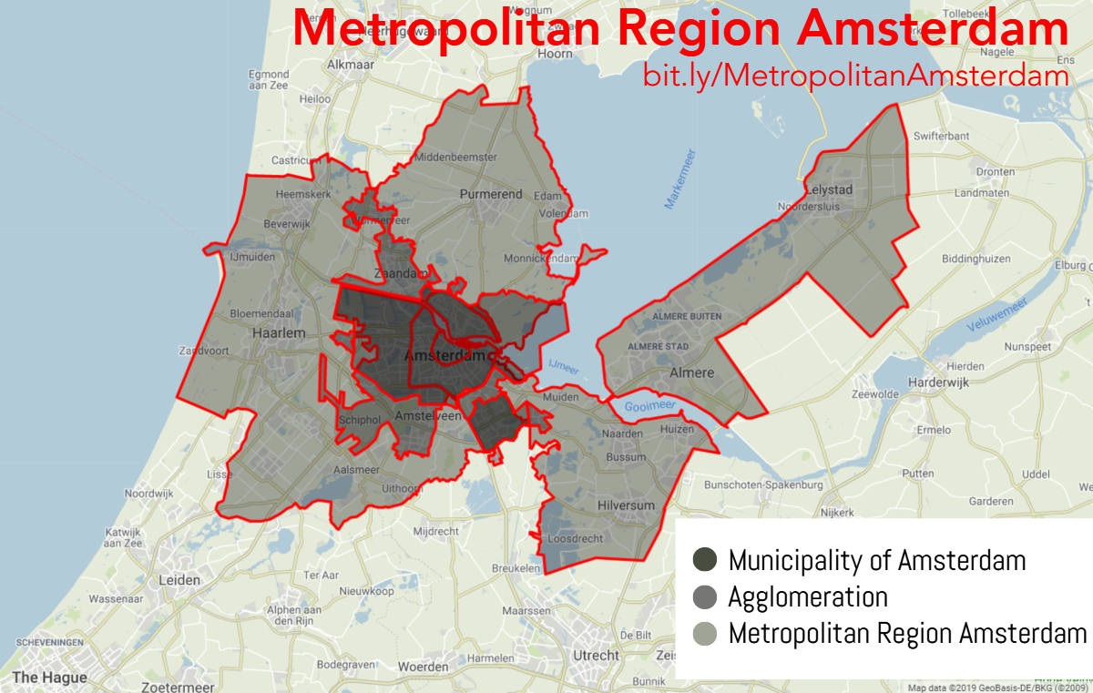 Map of the Metropolitan Region Amsterdam