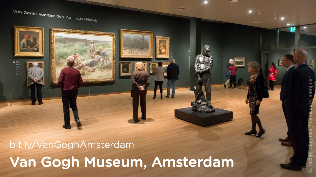 A gallery in the Van Gogh Museum. Van Gogh's works are arranged thematically rather than chronologically.  Credit: Jan Kees Steenman / Van Gogh Museum