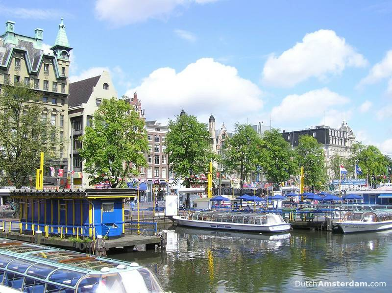 Amsterdam Central Station, on the right, is not visible