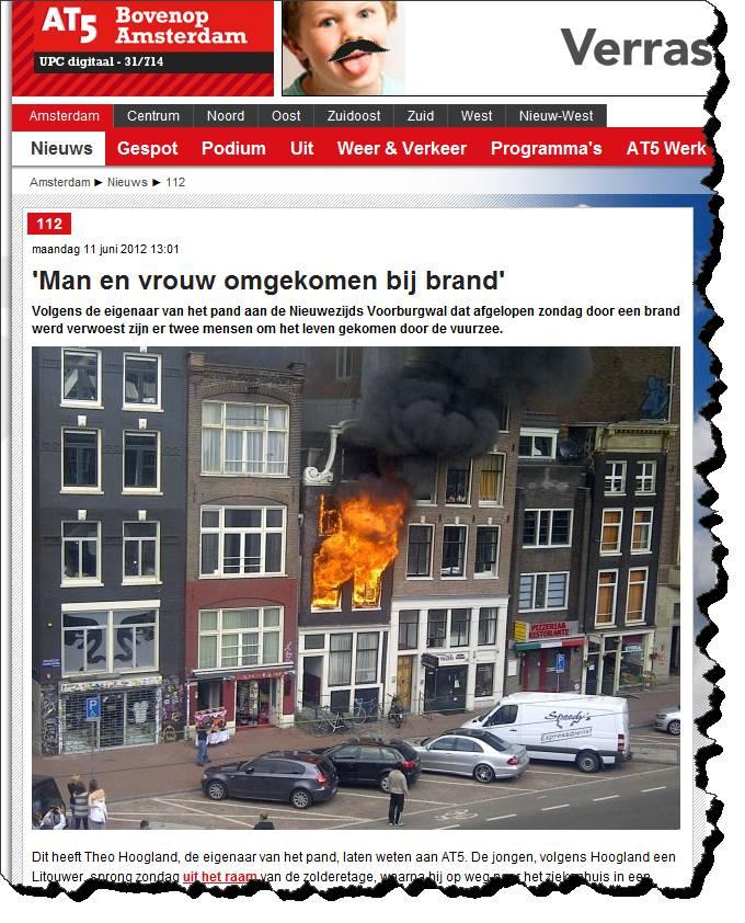 Fire at Nieuwezijds Voorburgwal 138, Amsterdam