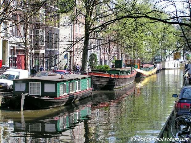 Houseboats, Raamgracht, Amsterdam