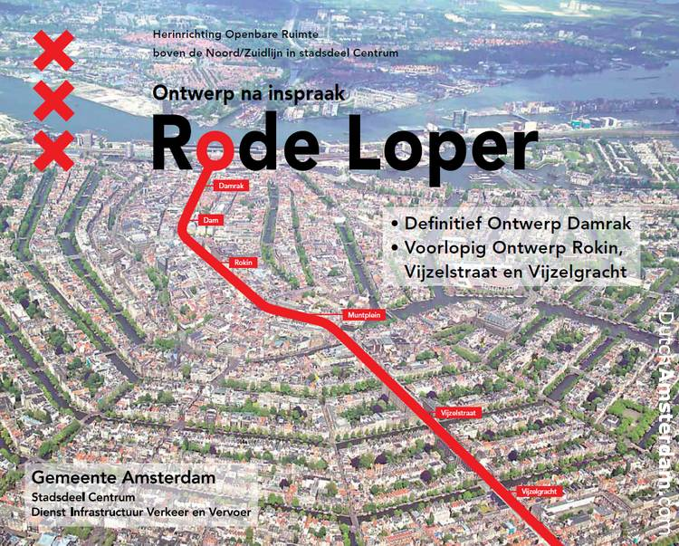 Cover of a City of Amsterdam design plan for a 'red carpet' route into town.