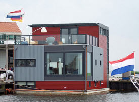 waterwoning -- floating house in Amsterdam